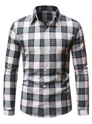 Casual Plaid Pattern Long Sleeve Shirt -