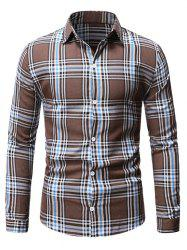 Plaid Casual Button Up Long Sleeve Shirt -