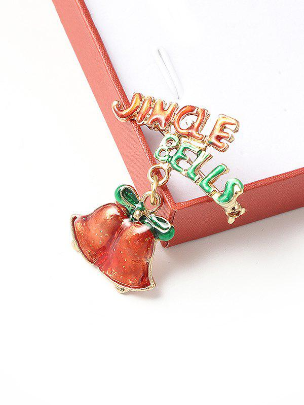 Sale Christmas Jingle Bell Glazed Brooch