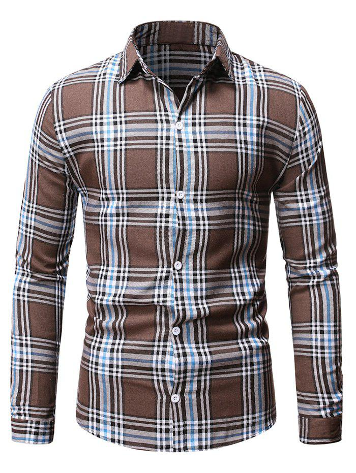 Chic Plaid Casual Button Up Long Sleeve Shirt