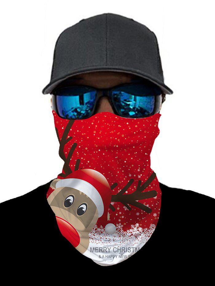 Shops Outdoor Christmas Elk Printed Cycling Mask Round Scarf