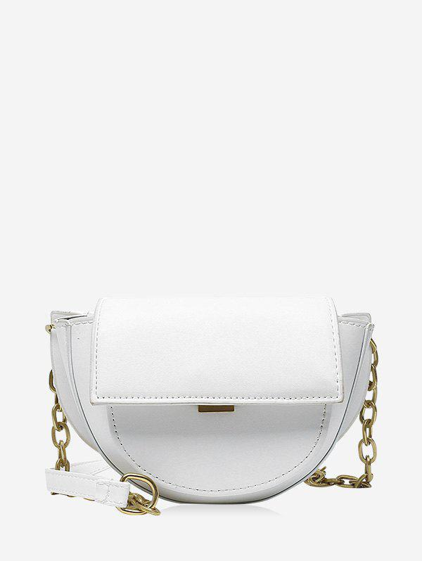 Discount Cover Chain Solid Saddle Bag