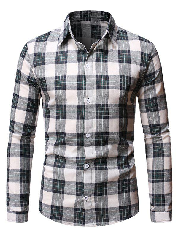 Hot Casual Plaid Pattern Long Sleeve Shirt