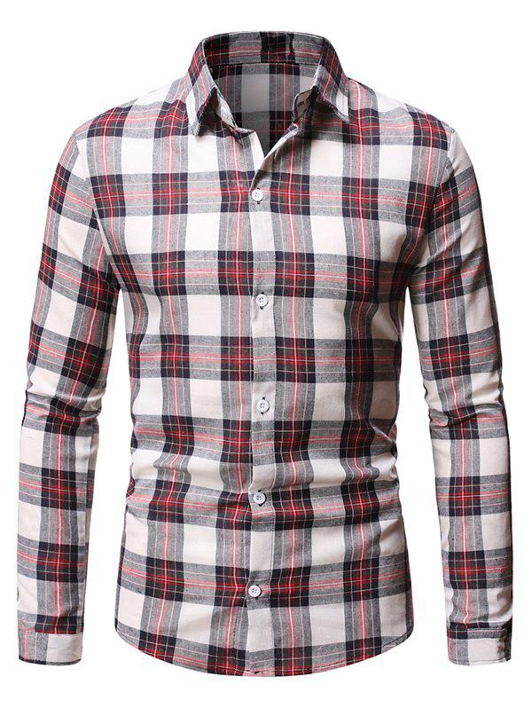 Trendy Casual Plaid Pattern Long Sleeve Shirt