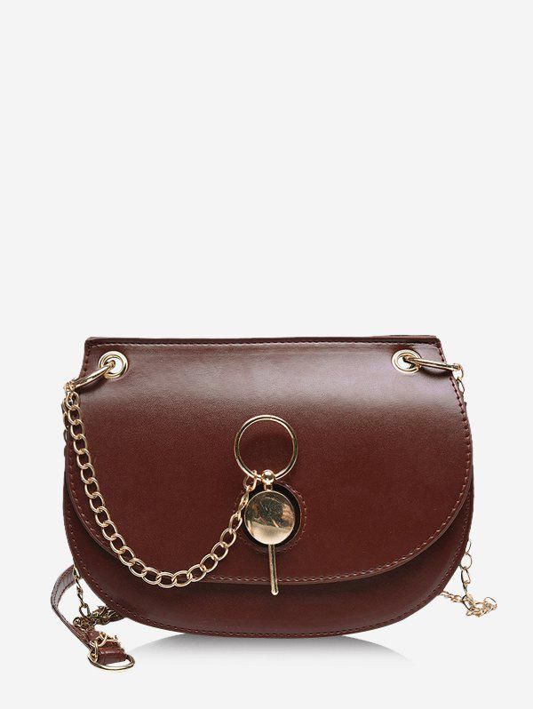 Shops Chain Cover Crossbody Saddle Bag
