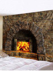 Fireplace 3D Print Waterproof Wall Tapestry -