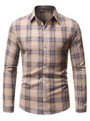 Button Down Plaid Pattern Shirt -