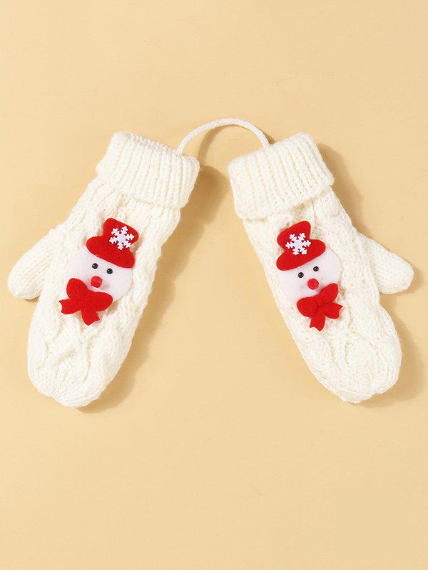 Shop Christmas Pattern Knitted Mitten Gloves