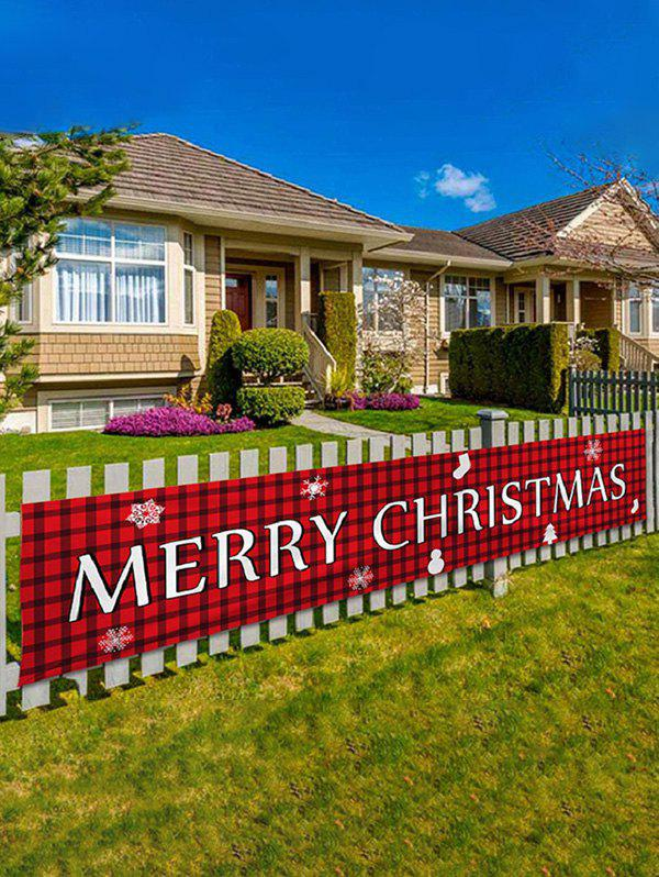 Shops 200CM Merry Christmas Pattern Party Decorative Outdoor Banner