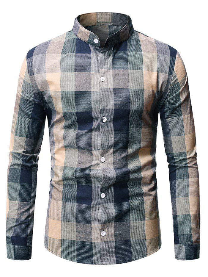 Outfits Long Sleeve Plaid Patterned Button Down Shirt