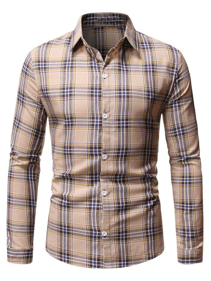 Hot Button Down Plaid Pattern Shirt