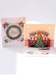 Open 3D Merry Christmas Tree Greeting Card -