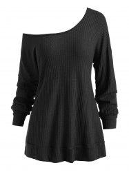 Hooded Drop Shoulder Casual Knitwear -