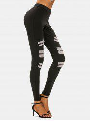 High Rise Zipper Detail Skinny Pants -