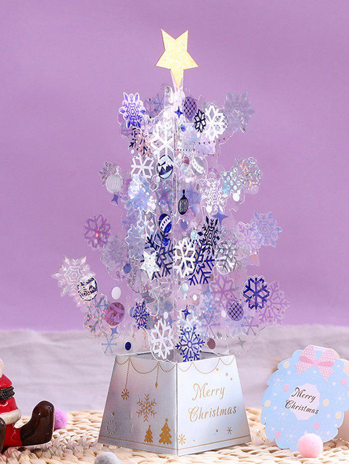 Fashion 3D Christmas Tree Star Ornament Greeting Card