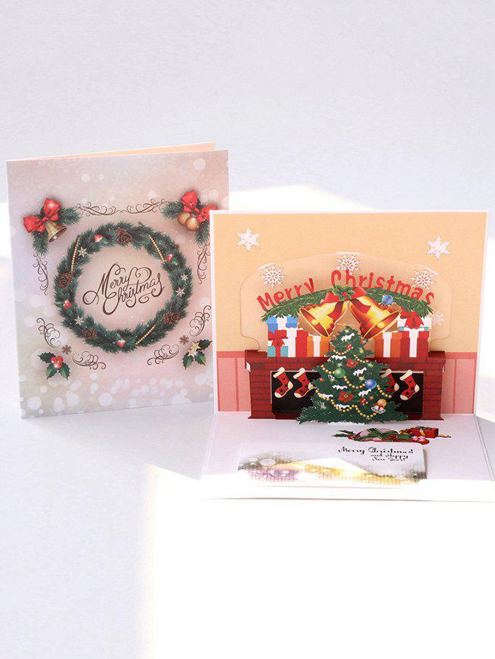 Unique Open 3D Merry Christmas Tree Greeting Card