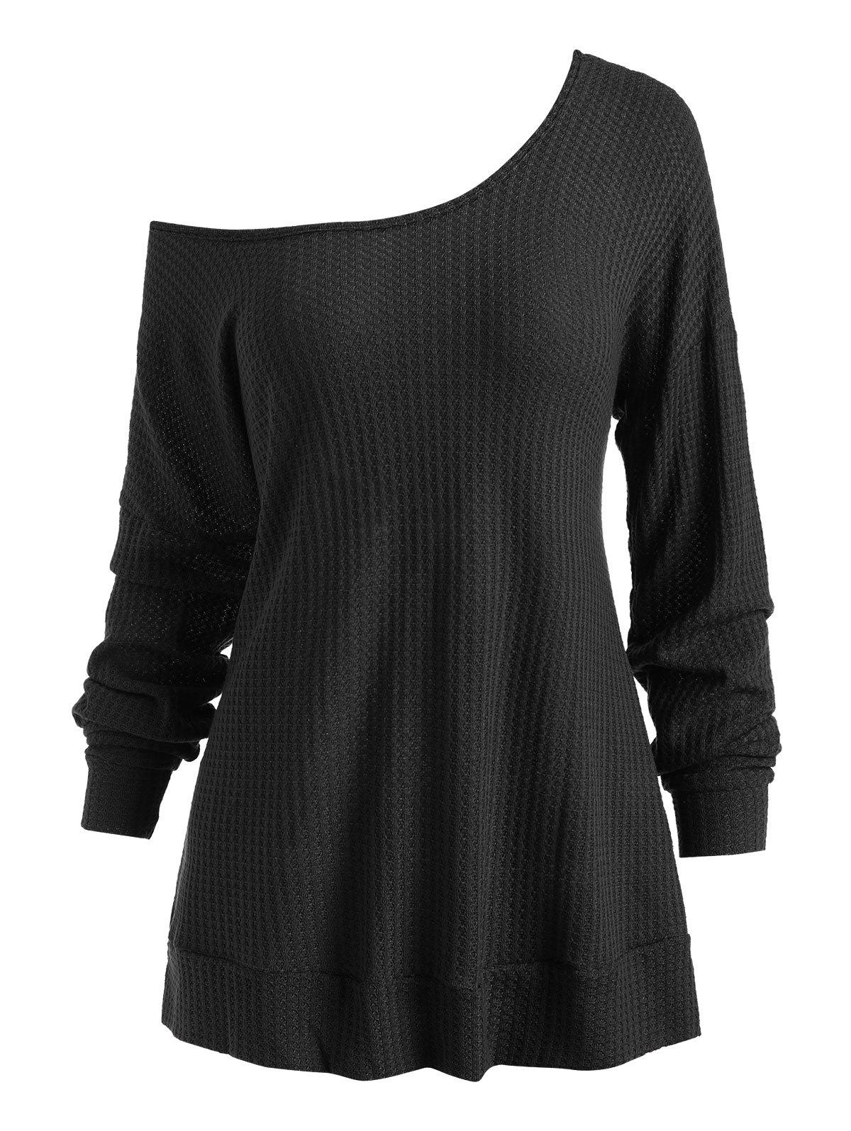Buy Hooded Drop Shoulder Casual Knitwear