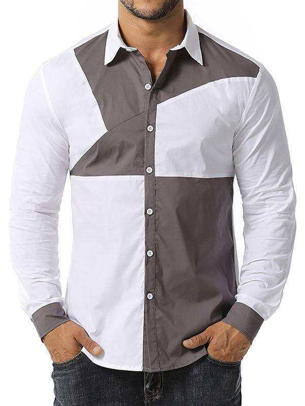 Latest Button Up Contrast Stitching Detail Shirt