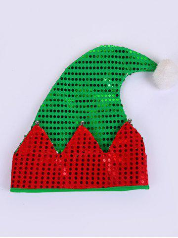 Christmas Pom Pom Sequined Contrast Santa Claus Hat