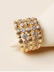 Rhinestone Hollow Out Wide Band Ring -