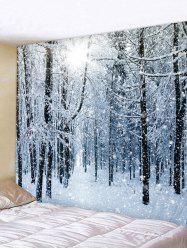 Snow Forest Printed Tapestry Wall Hanging Art Decoration -