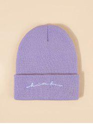 Letters Pattern Embroidery Knitted Hat -