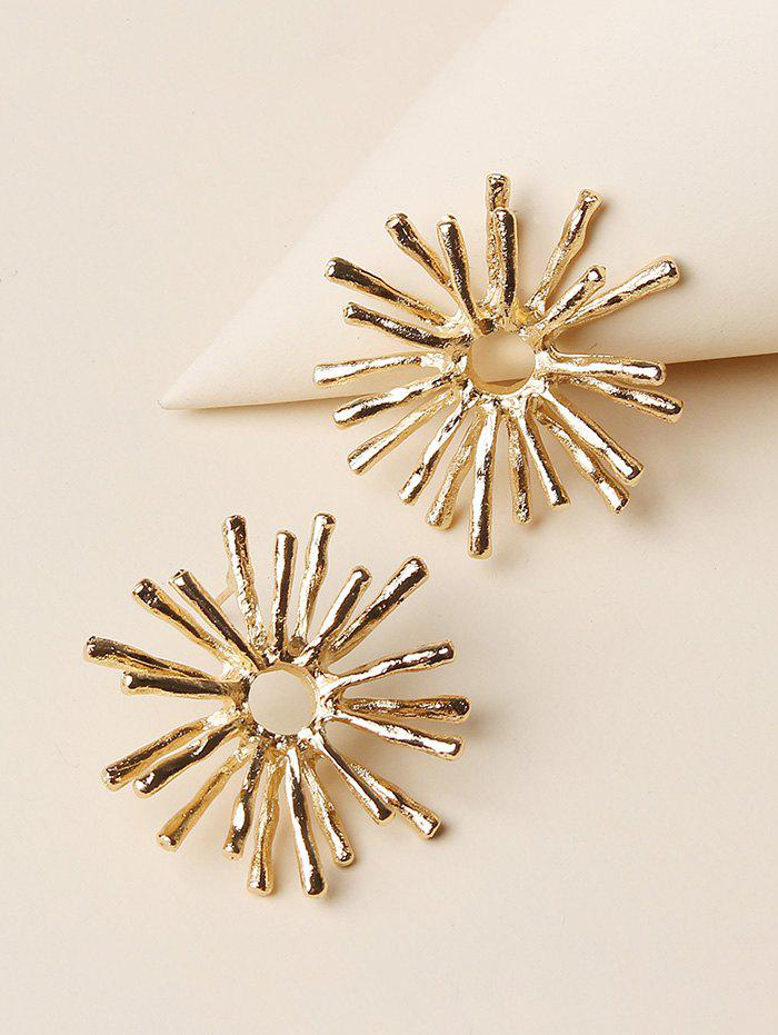 Fashion Snowflake Shape Stud Earrings