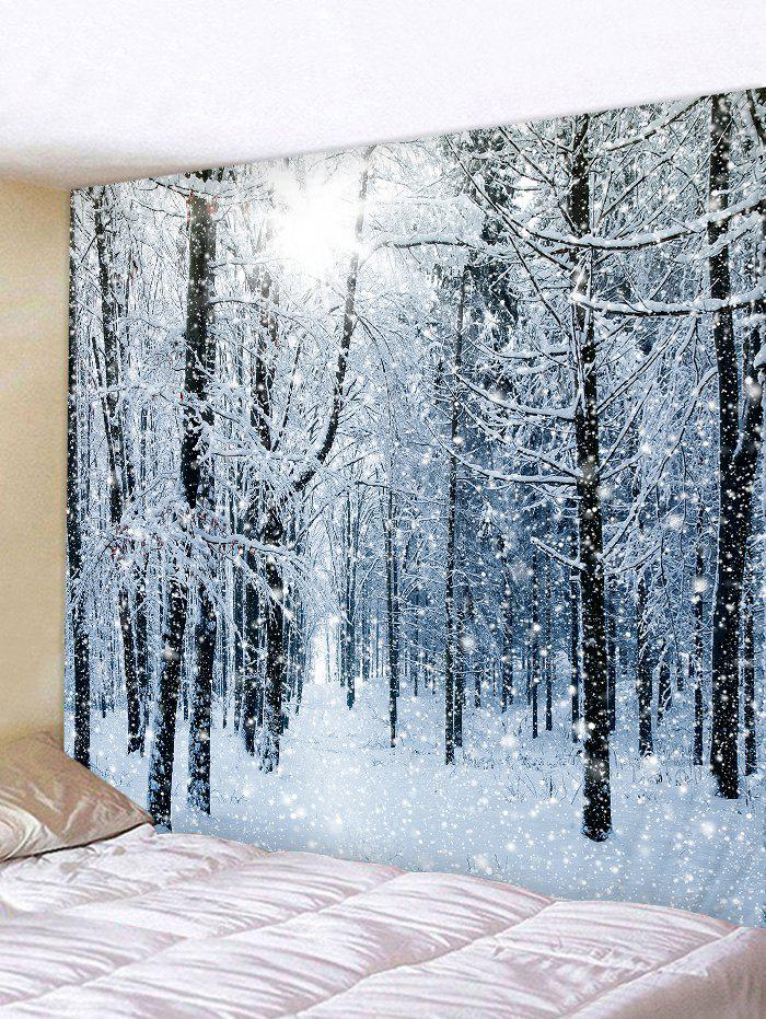 Fashion Snow Forest Printed Tapestry Wall Hanging Art Decoration