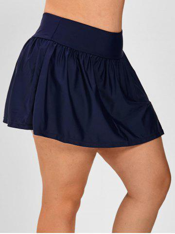 Plus Size Ruched Detail Skirtini Bottom