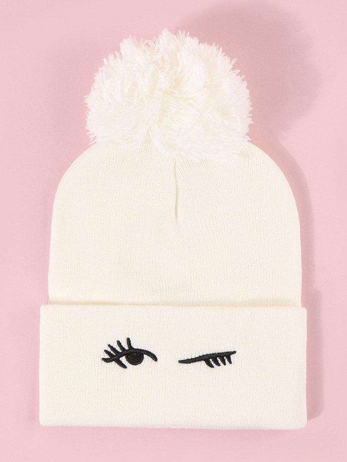 Discount Embroidery Blinking Eye Knitted Bubble Hat