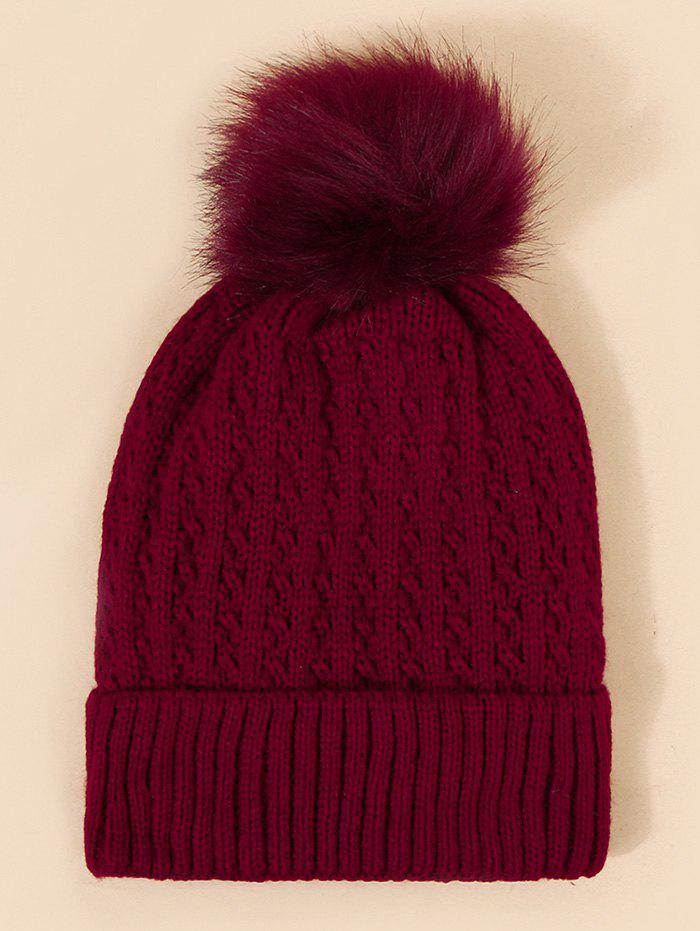 Outfit Braid Faux Fur Knitted Bubble Hat