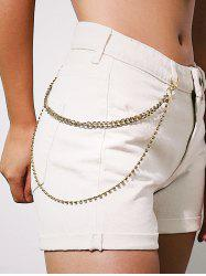 Rhinestone Double Layered Trousers Chain -