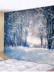 Snowy Forest 3D Print Background Wall Tapestry -