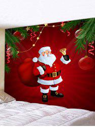 Christmas Santa Claus Print Background Wall Tapestry -