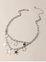 Hollow Out Pentagram Layers Charm Necklace -