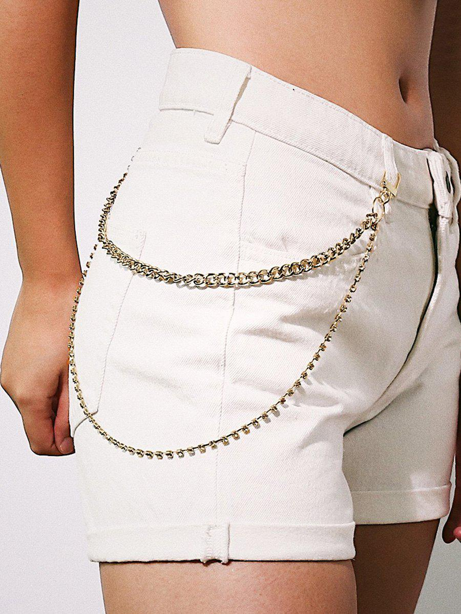 Store Rhinestone Double Layered Trousers Chain