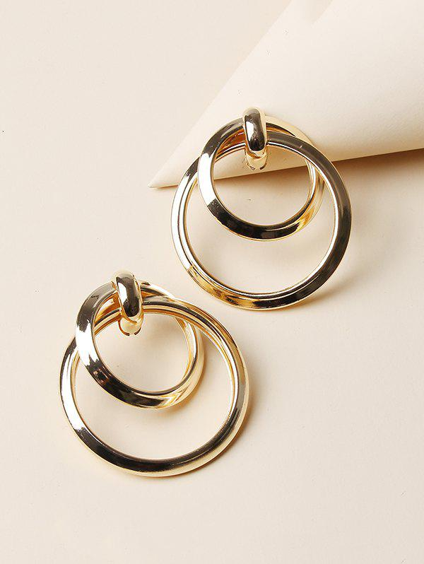 Chic Hollow Double Circle Alloy Earrings