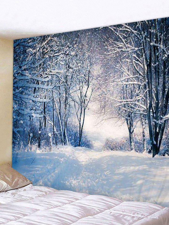 Discount Snowy Forest 3D Print Background Wall Tapestry