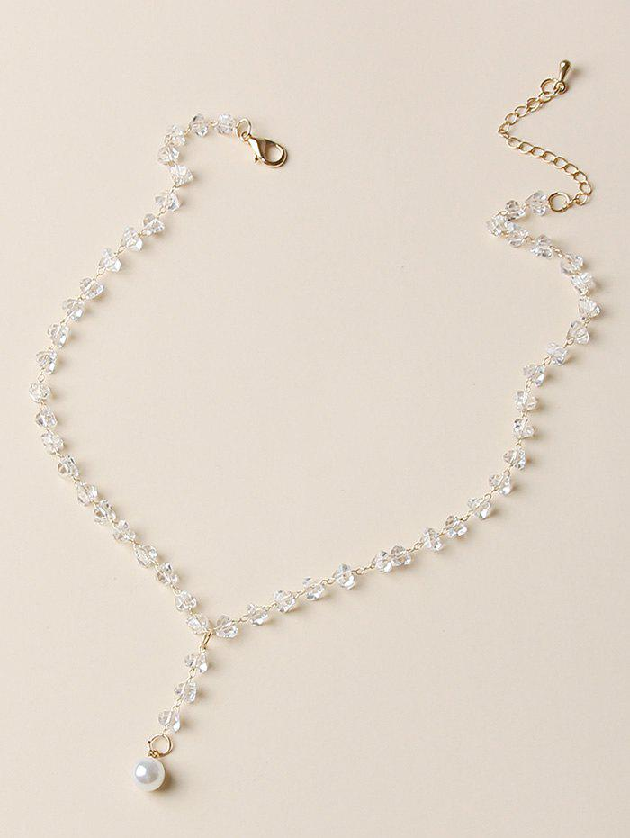 Buy Artificial Crystal Pearl Pendant Necklace