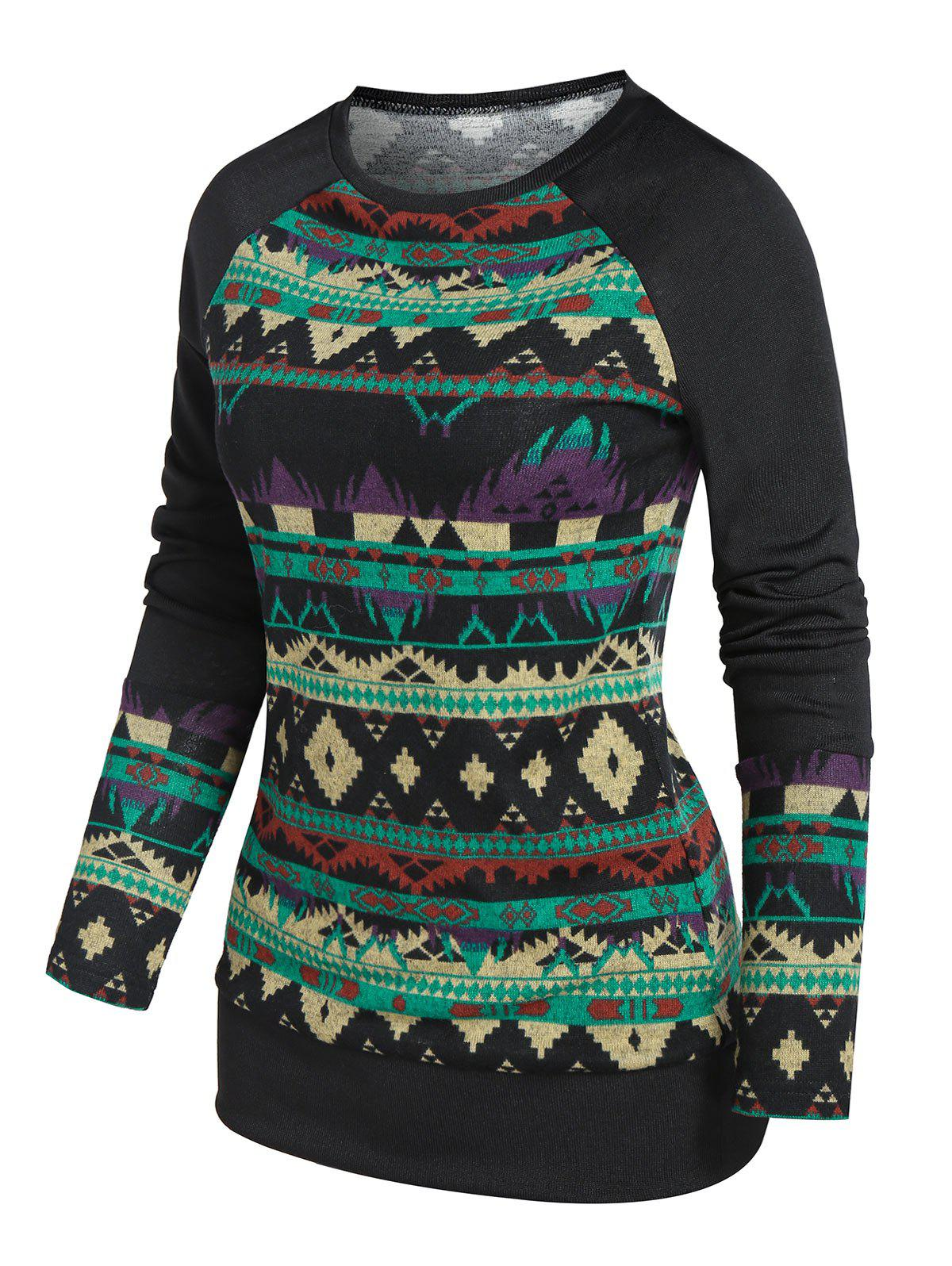 Raglan Sleeve Geometry Knitwear