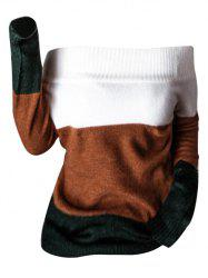 Off Shoulder Tree Tone Sweater -