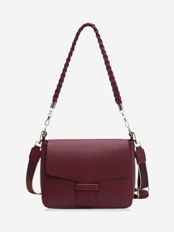 Unique Solid Braid Strap Cover Shoulder Bag