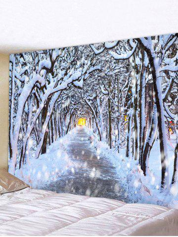 Snow Forest Avenue Print Tapestry Wall Hanging Art Decoration - MULTI - W91 X L71 INCH