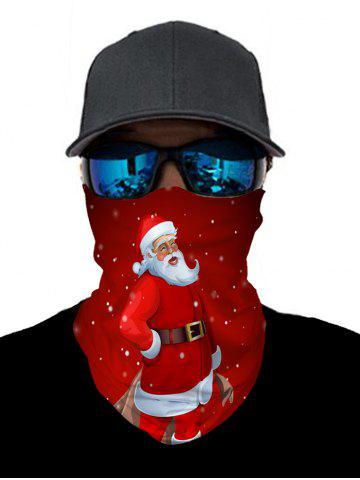 Christmas Santa Print Outdoor Cycling Neck Gaiter