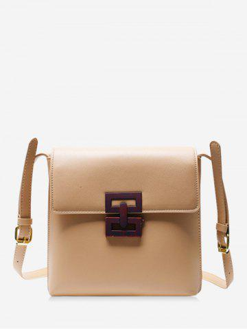 Hollow Geo Square Cover Crossbody Bag