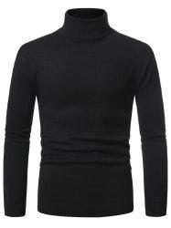 Turtleneck Pullover Plain Sweater -