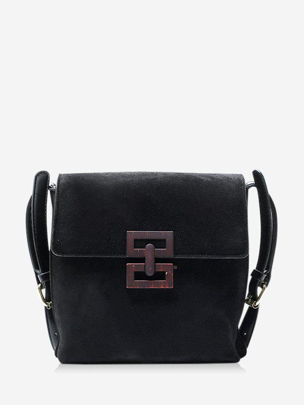 Store Hollow Geo Square Cover Crossbody Bag
