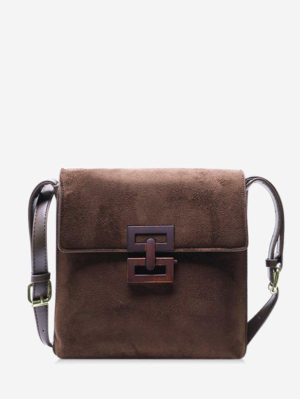 Outfit Hollow Geo Square Cover Crossbody Bag