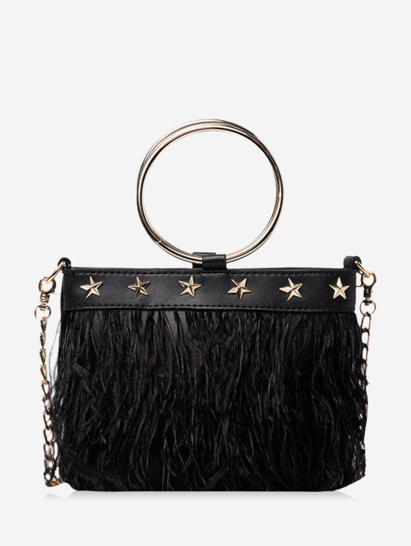 Hot Feather Fringe Star O Ring Chain Crossbody