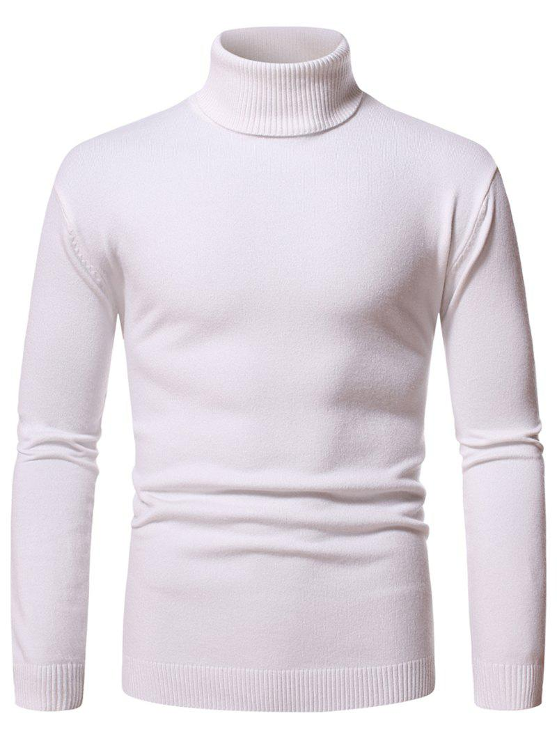 Outfit Turtleneck Pullover Plain Sweater